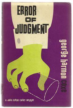 Error of Judgment - Vintage Mystery Novel Fiction Book $8.00