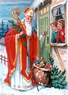 Oude ansichtkaart, Sint Nicolaas