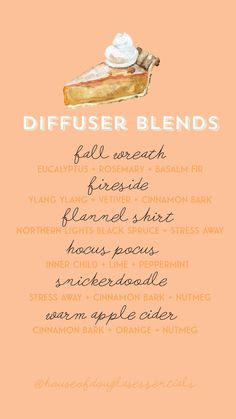 Fall Essential Oils, Essential Oil Diffuser Blends, Essential Oil Uses, Young Living Essential Oils, Diffuser Recipes, Perfume, Tricks, Essential Oil Combinations, Living Oils