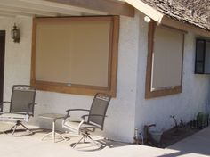 Offering custom roller shades in Phoenix metro area which provide wonderful benefits of stationary sunscreens, but with the flexibility of being able to roll them up and down as needed. Shades Blinds, Roller Shades, Shutters, Phoenix, Patio, Mirror, Gadgets, Exterior, Sun