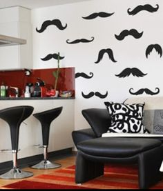 Mustache room... Yes!