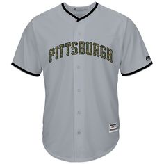 Pittsburgh Pirates Majestic 2016 Fashion Memorial Day Cool Base Jersey - Gray
