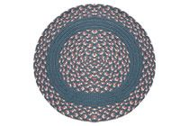 Williamsburg Blue, Rose & Cream - Williamsburg Blue Band Round Braided Rug This high-quality braided rug is made by American workers at our family-owned business in the North Carolina Mountains. It is made from Naturalized Olefin, which is a synthetic, polypropylene yarn that is extremely durable, yet soft enough for use indoors. It is color fast and washable. Visit www.stroudbraided... for more details