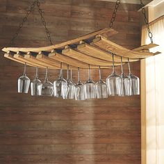 Barrel+Stave+Hanging+Stemware+Rack at Wine Enthusiast - $219.95