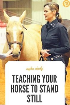 How to teach your horse to stand still - critical for the… https://www.aqha.com/daily/riding/2017/august/teaching-a-horse-to-stand-still/