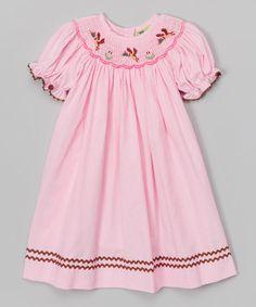 Look at this #zulilyfind! Pink Mallard Bishop Dress - Toddler & Girls #zulilyfinds