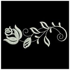 Ace Points Embroidery Design Pack: White Work Roses 4