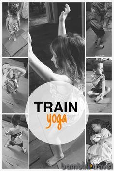 Train Yoga | simple train themed yoga routine for kids | Bambini Travel
