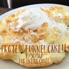 Heck yes I did. Homemade Funnel Cake, Homemade Cake Recipes, Protein Deserts, Protein Cookies, Healthy Desserts, Dessert Recipes, Healthy Cake, Funnel Cake Bites, Funnel Cakes