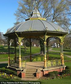 Victorian bandstands restored to their former glory in programme Political Geography, Breath Of Fresh Air, Old Postcards, Britain, Gazebo, Restoration, Scenery, Environment, Victorian