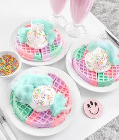 ideas birthday breakfast for him desserts for 2019 Yummy Treats, Sweet Treats, Yummy Food, Delicious Dishes, Kreative Desserts, Rainbow Food, Rainbow Drinks, Rainbow Snacks, Rainbow Desserts