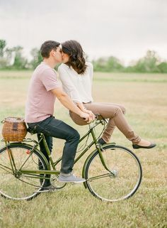 ... Cute Couple Photos, Bike Photography, Engagement Photos Bike, Bicycle…
