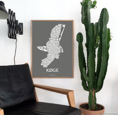 Typographic art prints - Køge is a lovely Danish city located right by the ocean! Isn't it beautiful as a poster?
