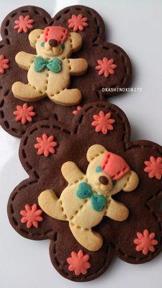 El color de las galletas del oso de peluche