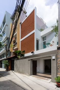 Trendy Ideas For Apartment Building Exterior Stones Brick Design, Facade Design, Exterior Design, Architecture 101, Architecture Tattoo, Compact House, Narrow House, Modern Architects, Home Room Design