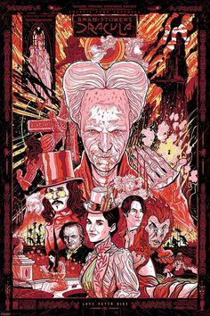 BRAM STOKER'S DRACULA Tribute Art by PJ McQuade: Take a look at this Bram Stoker's Dracula tribute art by artist PJ… #Art #PJMcQuade