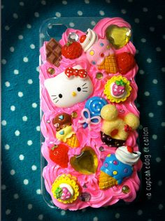 Hello Kitty Pink Whipped Cream  iPhone case