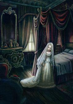 """Benjamin Lacombe - """"La nuit de noces de Rowena""""..."""