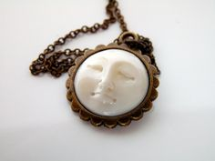 Small Moon Goddess Necklace Celestial by lululovestocreate on Etsy