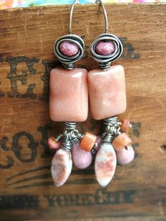 Peach Adventure Fringe Sterling and Stone by missficklemedia on Etsy http://www.etsy.com/listing/84048903/peach-adventure-fringe-sterling-and