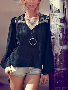 Free People FP ONE Florestra Peasant Top at Free People Clothing Boutique