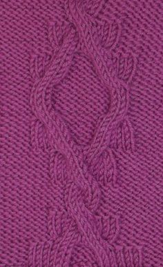 The Spanish Cables knitting stitch is reminiscentof old tiles.  It is found in the Cables & Twisted Stitches category.