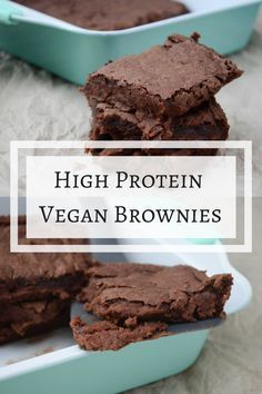 Rezept: High Protein Brownies | No Protein Powder