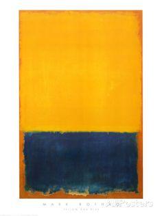 Gelb und blau Poster von Mark Rothko bei AllPosters.de