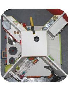 4 COINS : cuisine/dinette/poupée/ménage pour enfant. Adaptable pour adulte (bureau/brico/biblioth/ordi) ?autres articles sur cette réalisation sur le blog dans tag : Doudous - jouets