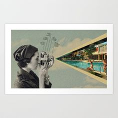 Picture this Art Print by Sammy Slabbinck  - $19.99