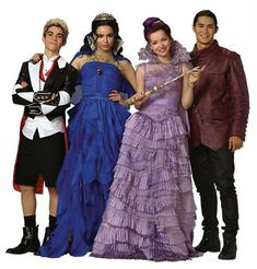 descendants, disney, mal, evie, jay, carlos