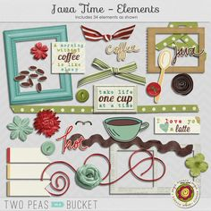 Java Time - Full Kit + Bonus Cardstock by Angie Kovacs - Two Peas in a Bucket