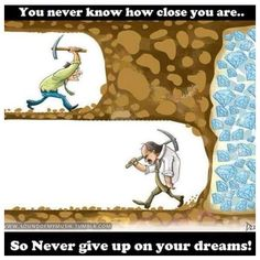 Never give up on your dream! #ThinkBIGSundayWithMarsha