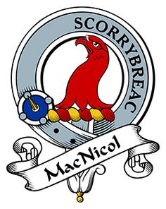 MacNicol Family Crest apparel, MacNicol Coat of Arms gifts