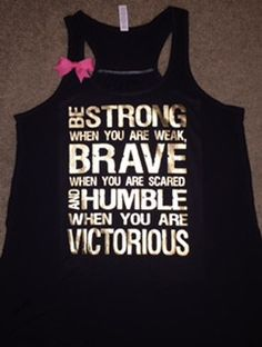 Be Strong When You are Weak - Tank - Ruffles with Love - Racerback Tan