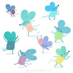 Dancing mice illustration