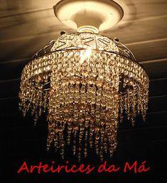 diy chandelier>>> from a fruit basket