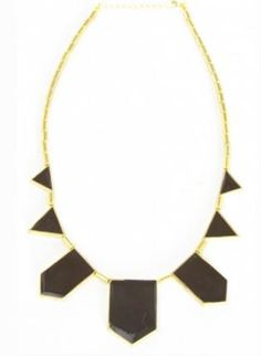 black & gold statement necklace