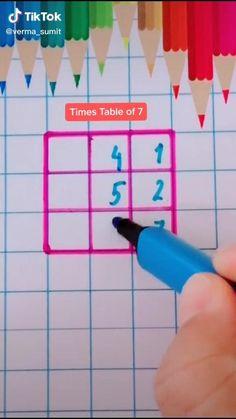 Cool Math Tricks, Math Tips, Math Lessons, Kids Math Worksheets, Math Resources, Math Activities, Life Hacks For School, School Study Tips, Simple Math