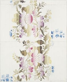 Watercolor on paper, design for textile by Anna Maria Garthwaite 1741. V & A collection. http://collections.vam.ac.uk/item/O91344/design-for-a-garthwaite-anna-maria/