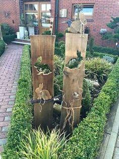 Ganz einfach eine Osterdeko aus Holz basteln!