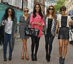 Vanessa White, Mollie King, Rochelle Humes/Wiseman, Una Foden/Healy and  Frankie Sandford