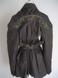 Vintage AD2000 Comme des Garcons Camouflage Re-constructed Jacket size S #CommedesGarcons #BasicJacket