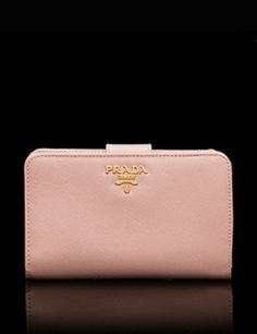 PRADA Orchid Pink Saffiano Leather Wallet