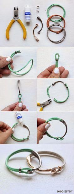 Φτιάξτε απίστευτα βραχιόλια απο δέρμα και γάντζους (Unisex) | Φτιάξτο μόνος σου - Κατασκευές DIY - Do it yourself