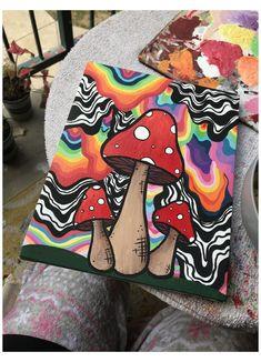 Simple Canvas Paintings, Easy Canvas Art, Small Canvas Art, Mini Canvas Art, Easy Art, Cool Paintings, Diy Canvas, Indie Drawings, Trippy Drawings