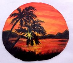 Hand Painted Sand Dollar Magnet by CindysCustomArt on Etsy