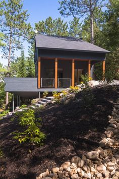 Vacation Home in Messines, Canada by Anik Péloquin Architecte