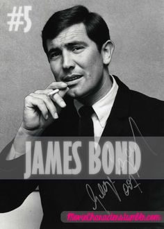 JAMES BOND    Played By: George Lazenby    Film: On Her Majesty's Secret Service    Year: 1969