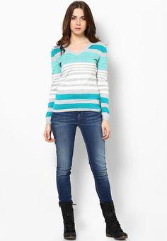 aa674595 Buy Tommy Hilfiger Grey Multi Stripe Sweater Online - 2854384 - Jabong